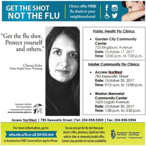 Community Flu Clinic @ Access NorWest | Winnipeg | Manitoba | Canada